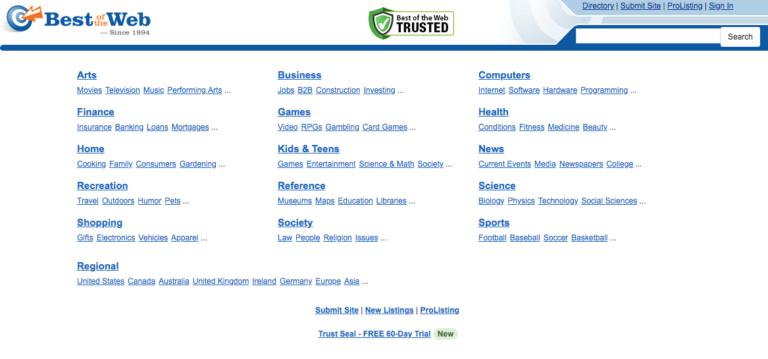 Contoh dan Daftar Berbagai Direktori Website